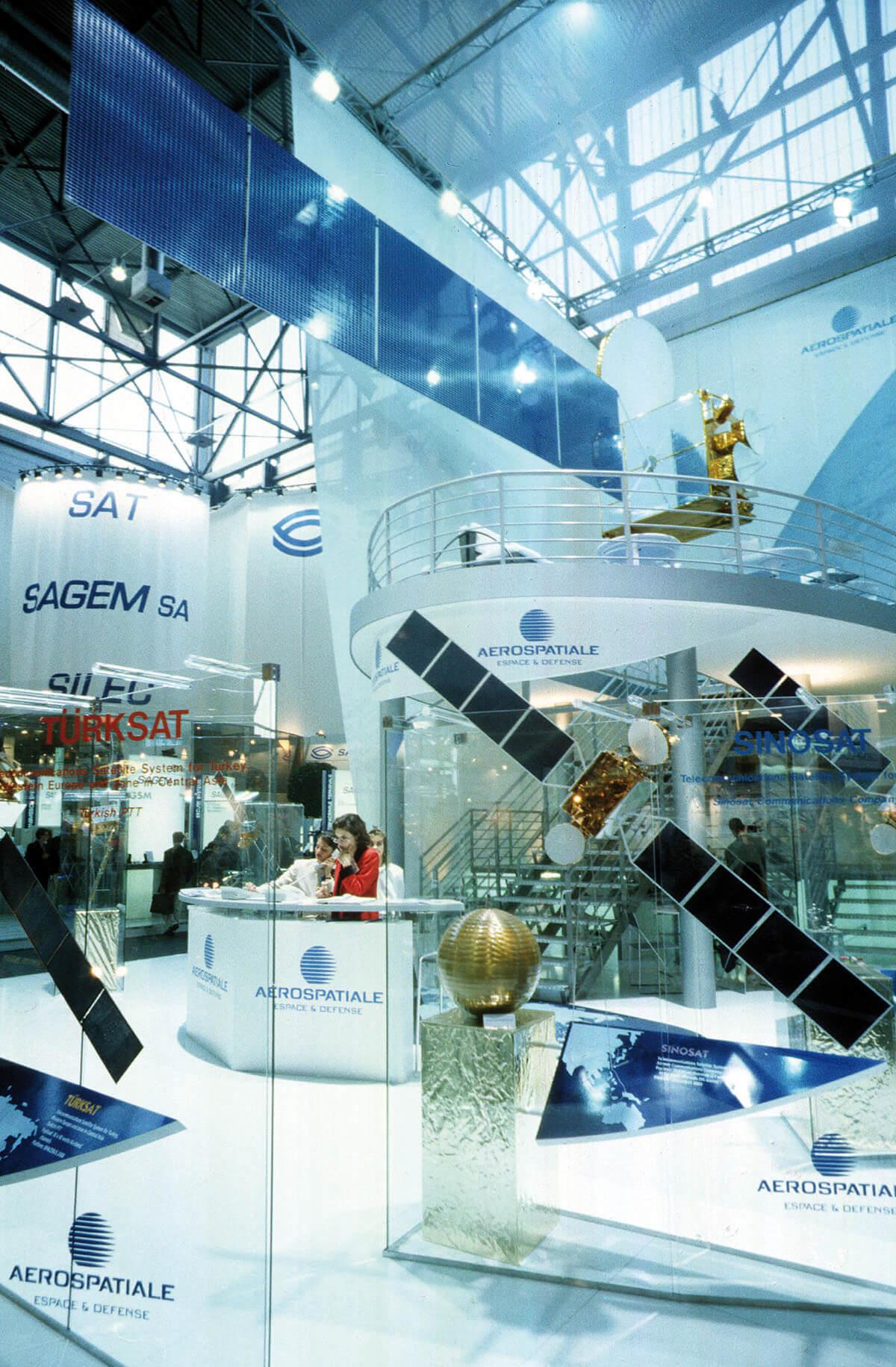 Geneva: stand of Aerospatiale from France at Telecom 95