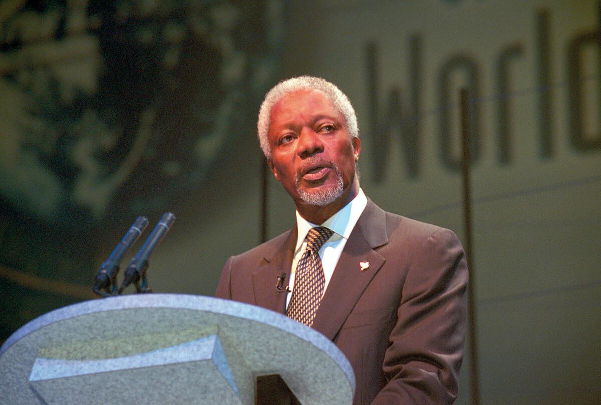 Geneva: World Telecom 1999 - Kofi Annan