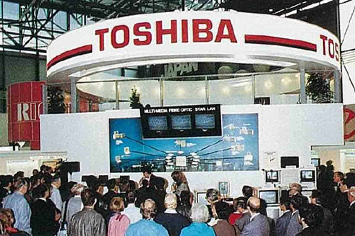 Geneva: stand of Toshiba from Japan at Telecom 87