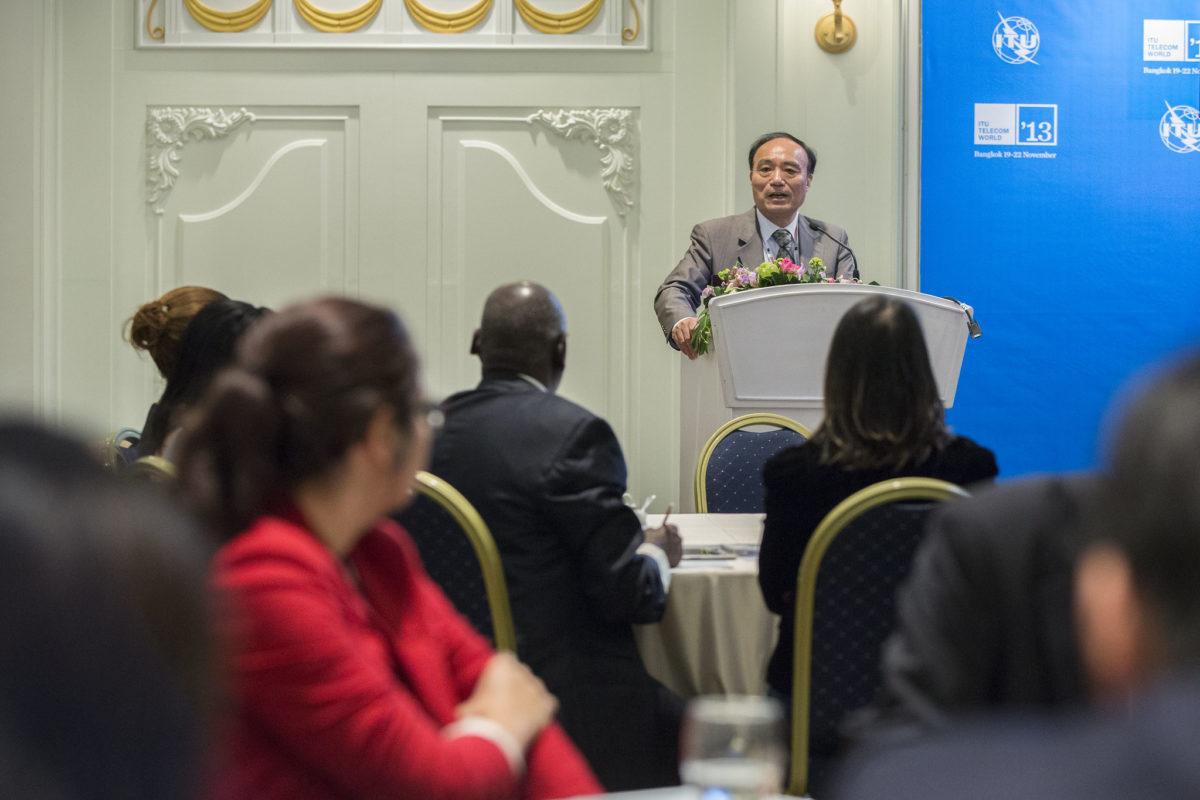 Bangkok: Deputy Secretary General of ITU, Mr Houlin Zhao, giving a opening speech at Client Meeting