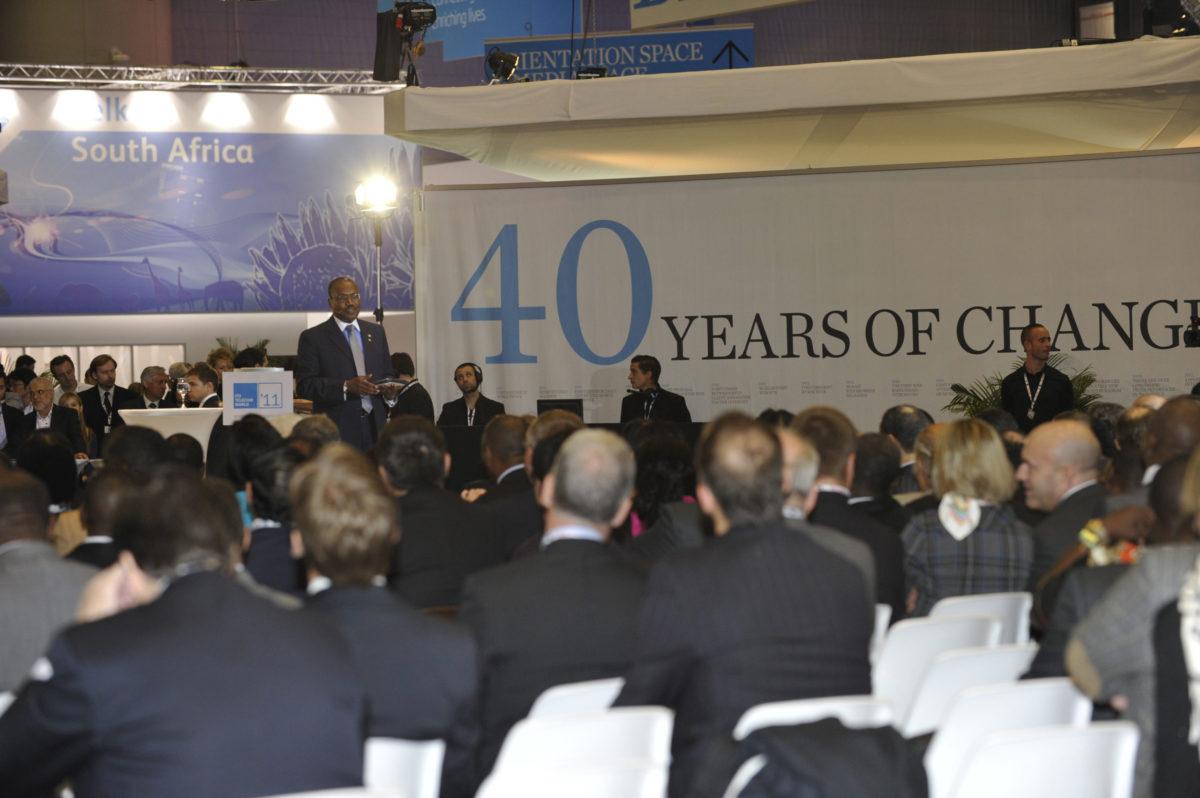 Geneva: ITU Secretary-General Hamadoun Touré addresses the audience at the event launch