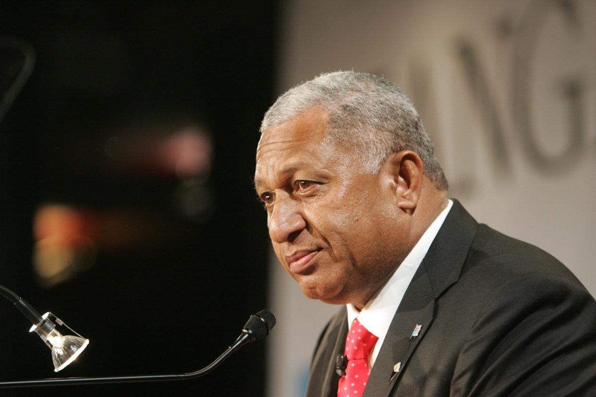 Geneva: H.E. Commodore Josaia Voreqe Bainimarama, Fiji's Prime Minister