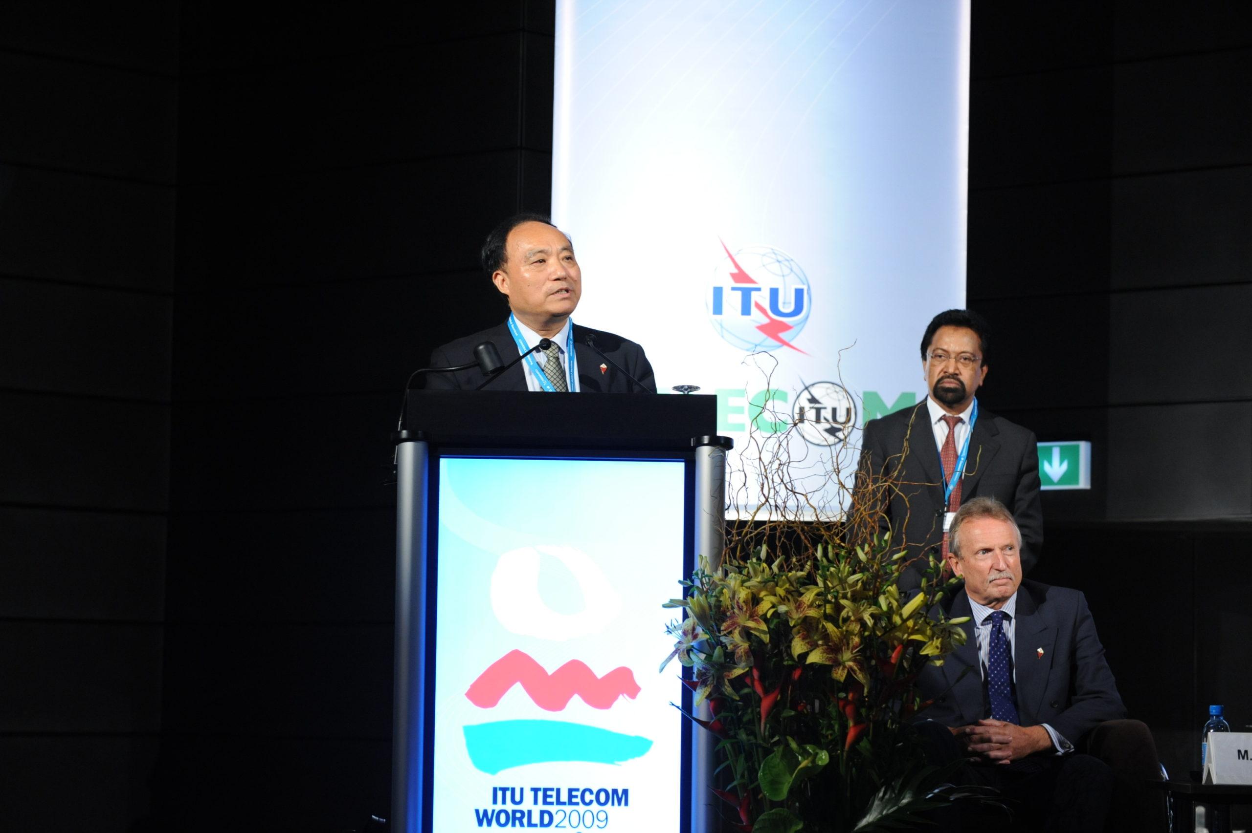 Geneva: Mr Houlin Zhao, Deputy Secretary General, speaking at ITU Telecom World 2009