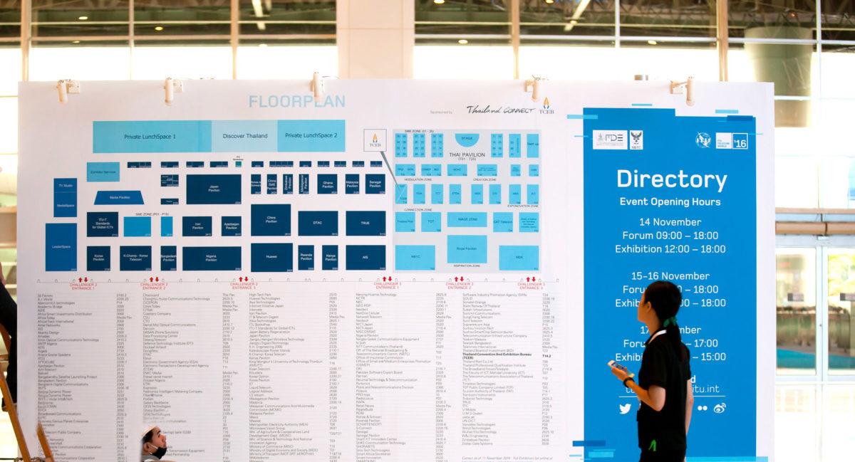 Bangkok: Floorplan on Showfloor @ ITU Telecom World 2016