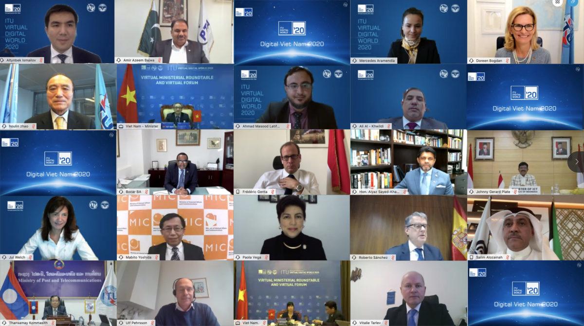 MINISTERIAL ROUNDTABLE 2 @ ITU Virtual Digital World 2020