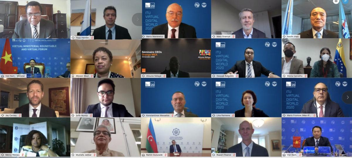 MINISTERIAL ROUNDTABLE 3 @ ITU Virtual Digital World 2020