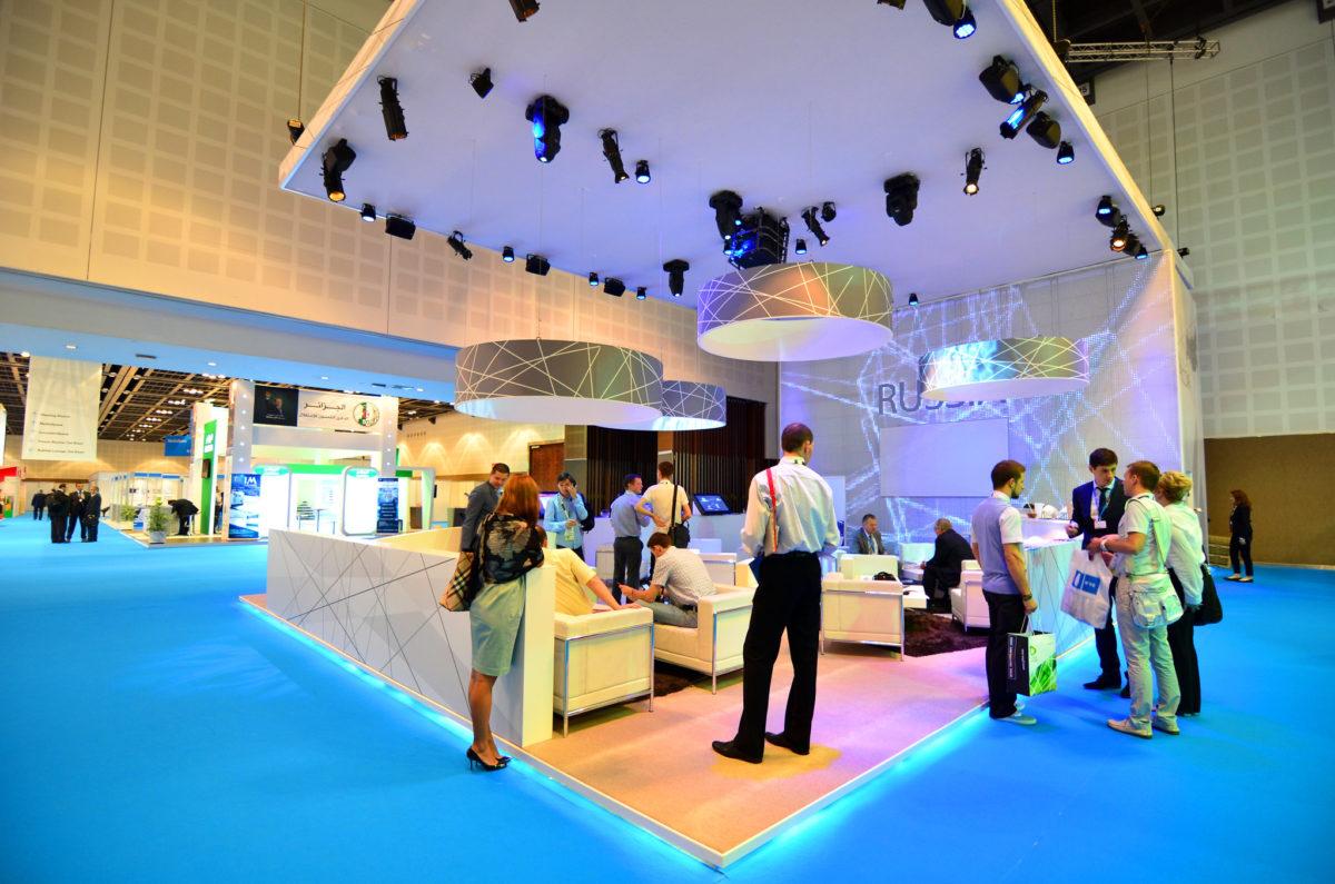 Dubai: National pavilion of Russia in Show Floor